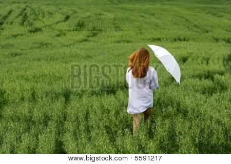 Young Woman In A Field.