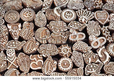 Henna Wooden Stamps