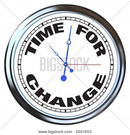 Tempo de mudança - relógio com armação de Metal brilhante
