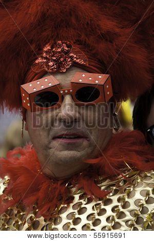 Man walking in Provincetown Carnival Parade