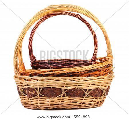 Vintage weave wicker baskets