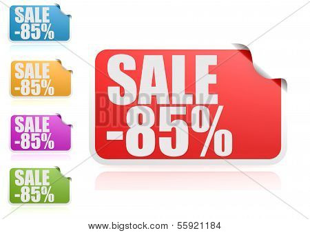 Sale 85% label set