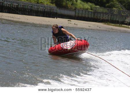 Woman tubing