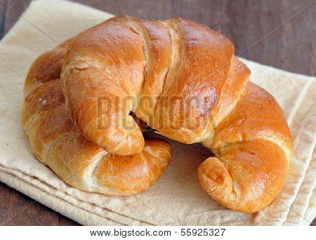 Croissants On Table