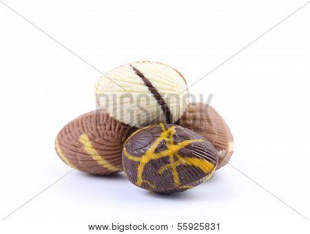 Chocolate seashells and stones