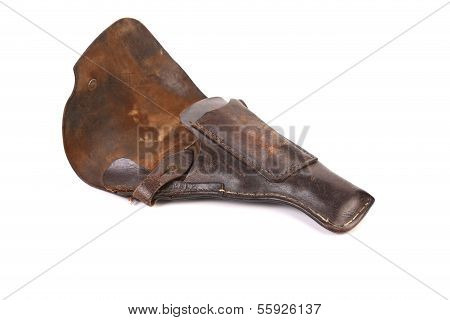 Old brown holster.