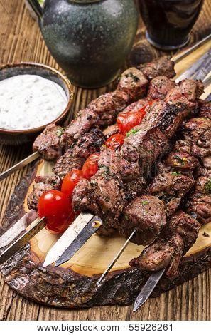 lamb kebab grilled