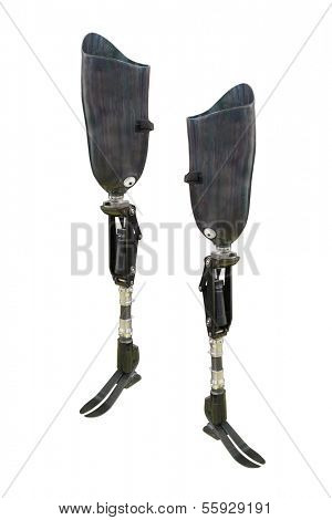 prosthesis foot under the white background