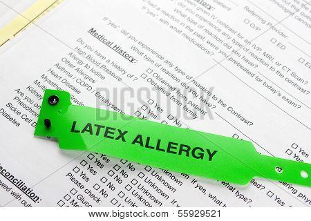 Green Latex Allergy Bracelet