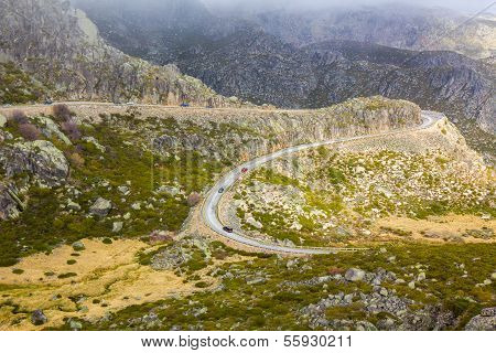 Mountain road, Serra Estrela, Portugal