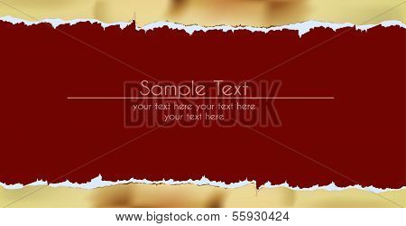 paper background with ripped golden paper