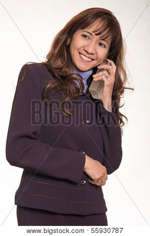 Attractive Brunette Asian Business Career Woman
