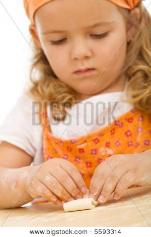 Little Girl Making Cookies Series