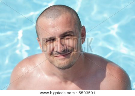 Man In The Swimming Pool