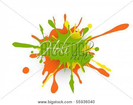 Indian festival Happy Holi celebration concept with colorful splash and text Holi Hai.