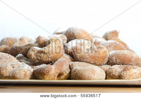 Tray Of Sugary Fritters