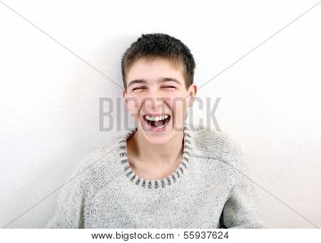 Laughing Teenager
