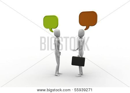 3d people and speech bubbles