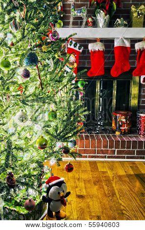 Lots Os Presents Around Christmas Tree Before Christmas