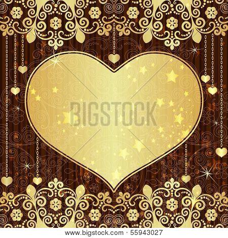 Vintage Gold Valentine Frame