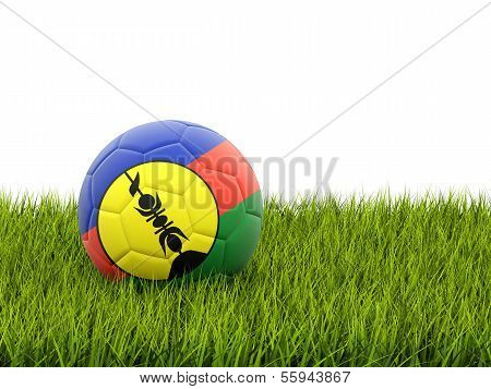 Football With Flag Of New Caledonia
