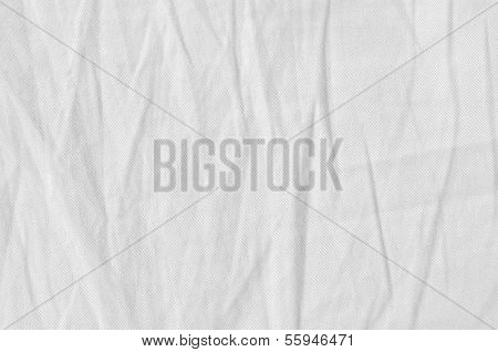 Natural Light Linen Plus Cotton Chinos Jeans Texture, Detailed Closeup, Rustic Crumpled Vintage Text