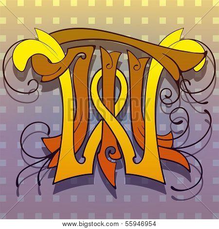 Monogram t,w,