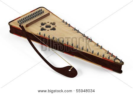Psaltery gusli isolated