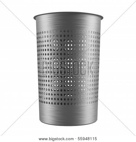 Metal garbage bin. Dustbin isolated