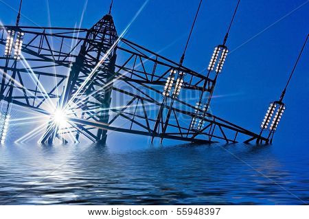 a high-voltage pylons for electricity shift in energy policy?