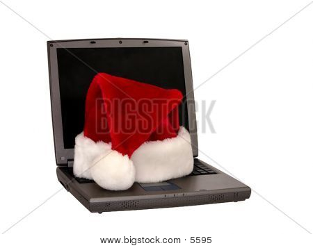Laptop With A Santa Hat (1 Of 4)
