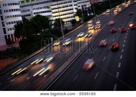 Blurred Cars
