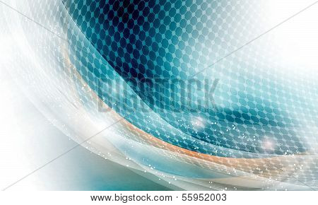 Abstract Background And Circular Grid