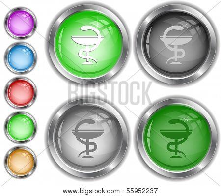 Pharma symbol. Raster internet buttons.