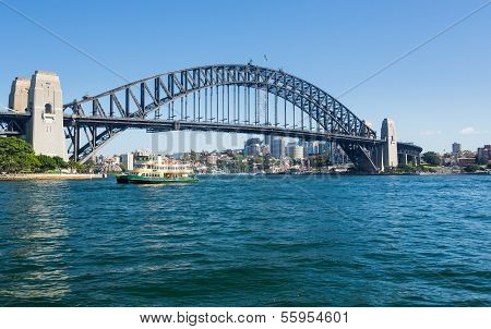 Dramatic Panoramic Photo Sydney Harbor