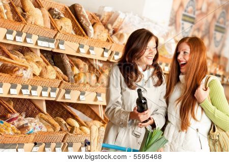 Grocery Store: Two Young Women