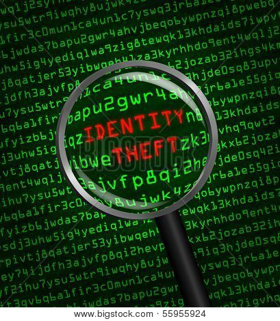 Identity Theft Revealed In Computer Code Through A Magnifying Glass