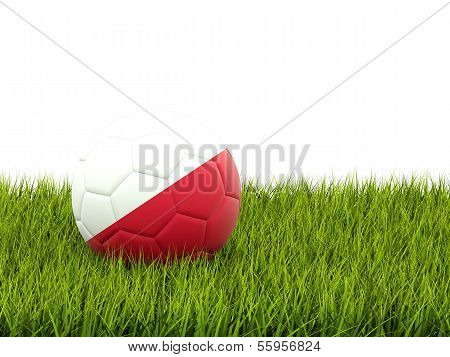 Football With Flag Of Poland