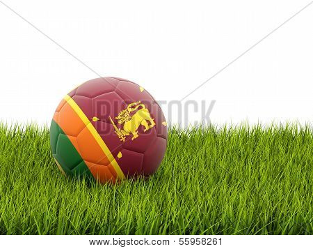 Football With Flag Of Sri Lanka