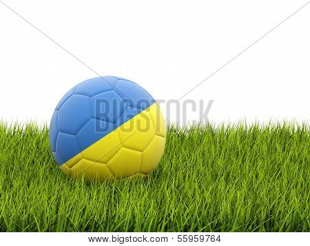 Football With Flag Of Ukraine