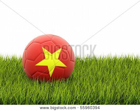 Football With Flag Of Vietnam