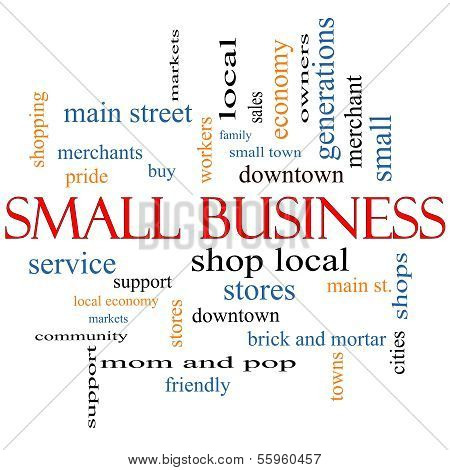 Small Business Word Cloud Concept