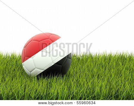 Football With Flag Of Yemen