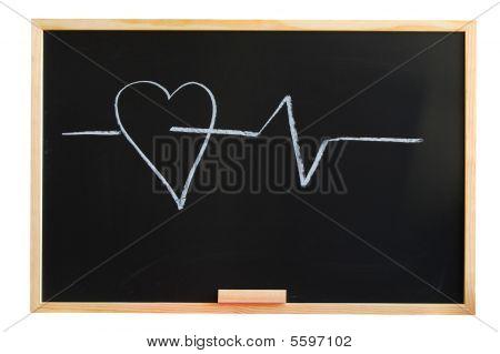 Blackboard And Heart