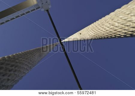 Suspension Cables Of A Bridge