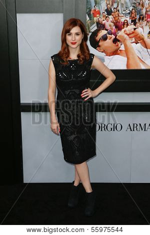 NEW YORK-DEC 17: Actress Aya Cash attends the premiere of