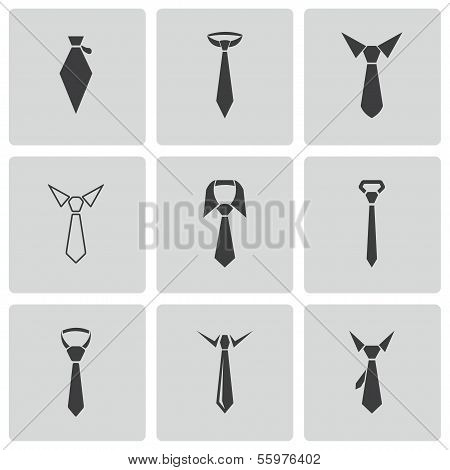 Vector black tie icons set