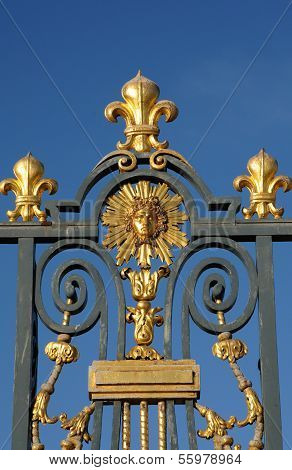 France, Golden Gate Of Versailles Palace