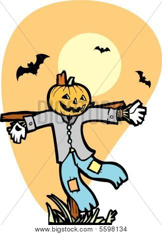 Scarecrow With Bats