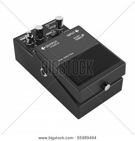 guitar pedal isolated